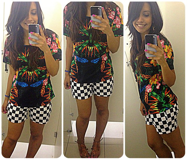 Blusa: R$19,00 Shorts: R$23,00